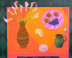 09 Calla Lillies, Fruit and Shell 80cm x 100cm copy