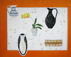12 Two Jugs, Orchid and Fish 80cm x 100cm copy